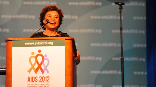 Barbara Lee at AIDS 2012